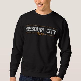 ミズーリ都市テキサス州米国はスエットシャツを刺繍しました 刺繍入りスウェットシャツ