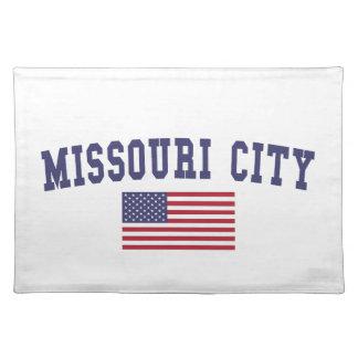 ミズーリ都市米国の旗 ランチョンマット