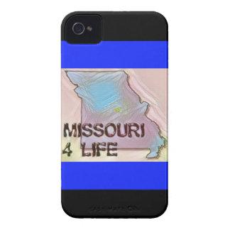 """""""ミズーリ4生命""""の州の地図のプライドのデザイン Case-Mate iPhone 4 ケース"""