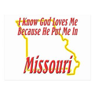 ミズーリ-神は私を愛します ポストカード