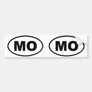 ミズーリMOの楕円形 バンパーステッカー