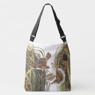 ミソサザイの鳥のAudubonの野性生物によってはトートバックが開花します クロスボディバッグ