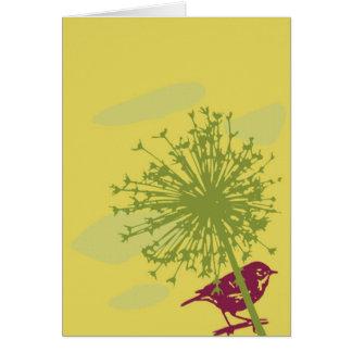ミソサザイ及び葱類 カード