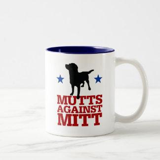 ミットに対する雑種犬 ツートーンマグカップ
