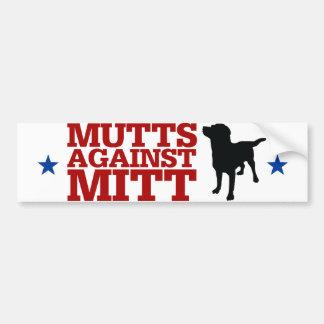 ミットに対する雑種犬 バンパーステッカー
