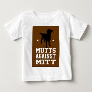 ミットに対する雑種犬 ベビーTシャツ