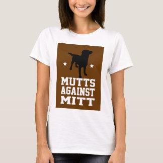 ミットに対する雑種犬 Tシャツ