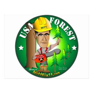 ミットの苦境それ-森林 ポストカード