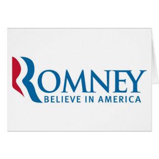 ミット・ロムニーの大統領のなキャンペーン選挙プロダクト カード