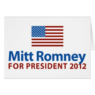 ミット・ロムニーの米国旗 カード