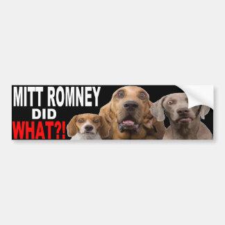 ミット・ロムニーは何をしましたか。! 屋根のバンパーステッカーの犬 バンパーステッカー