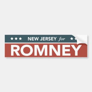 ミット・ロムニーライアンのバンパーステッカーのためのニュージャージー バンパーステッカー