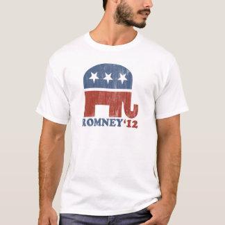 ミット・ロムニー2012の共和党員象(ヴィンテージ) Tシャツ
