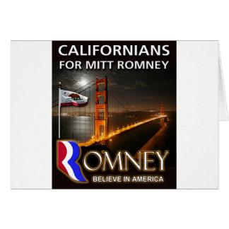 ミット・ロムニー2012年のためのカリフォルニア住民 カード