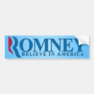 ミット・ロムニー-アメリカで信じて下さい バンパーステッカー
