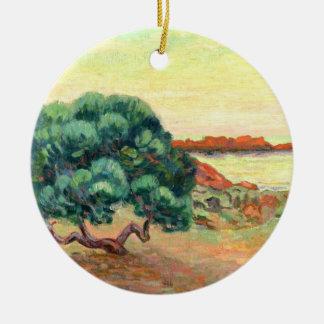 ミディの景色1898年(キャンバスの油) セラミックオーナメント