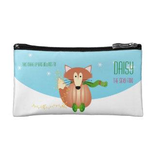 ミトンのキツネはバッグを構成します コスメティックバッグ
