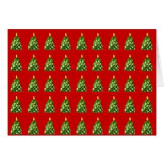 ミトンの木のクリスマスカード グリーティングカード