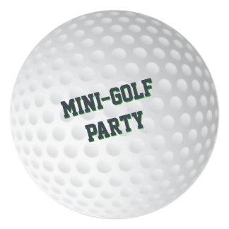 ミニゴルフパットパットのゴルフをする誕生会 13.3 スクエアインビテーションカード