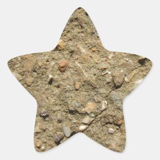 ミニチュアの砂漠 星シール