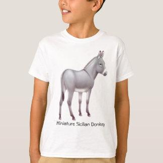 ミニチュアシシリアのろばはTシャツをからかいます Tシャツ