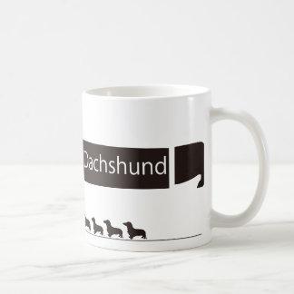 ミニチュアダックスフンドのおもしろグッズ コーヒーマグカップ