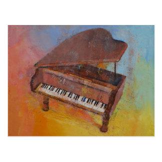 ミニチュアピアノ ポストカード