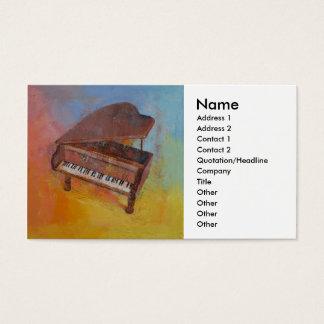 ミニチュアピアノ 名刺