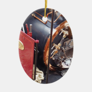ミニチュア蒸気機関車のボイラー セラミックオーナメント
