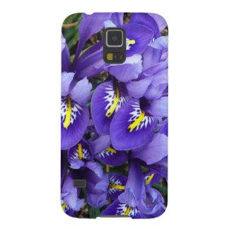 ミニチュア青いアイリス春の花柄 GALAXY S5 ケース