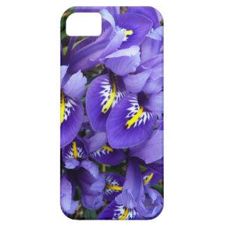 ミニチュア青いアイリス春の花柄 iPhone SE/5/5s ケース
