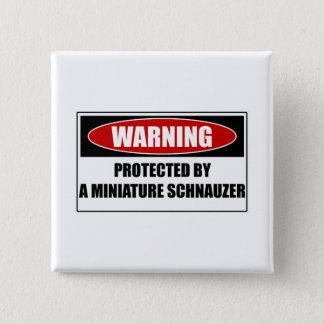 ミニチュア・シュナウツァーによって保護される 5.1CM 正方形バッジ