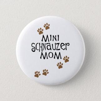 ミニチュア・シュナウツァーのお母さん 缶バッジ
