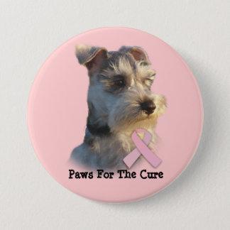 ミニチュア・シュナウツァーの乳癌ボタン 缶バッジ