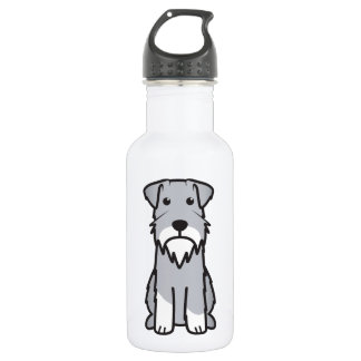 ミニチュア・シュナウツァー犬の漫画 ウォーターボトル