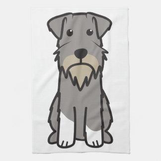 ミニチュア・シュナウツァー犬の漫画 キッチンタオル