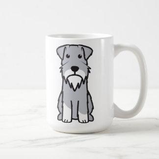 ミニチュア・シュナウツァー犬の漫画 コーヒーマグカップ