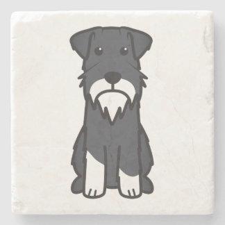 ミニチュア・シュナウツァー犬の漫画 ストーンコースター