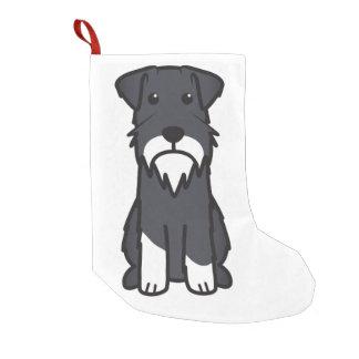 ミニチュア・シュナウツァー犬の漫画 スモールクリスマスストッキング