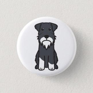 ミニチュア・シュナウツァー犬の漫画 缶バッジ