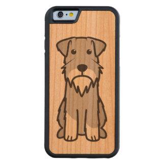 ミニチュア・シュナウツァー犬の漫画 CarvedチェリーiPhone 6バンパーケース