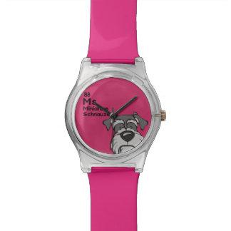 ミニチュア・シュナウツァー-犬のテーブル 腕時計