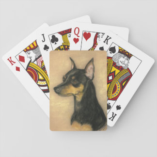 ミニチュア・ピンシャー犬の芸術のトランプ トランプ