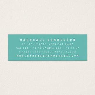 ミニマリスト2色の専門の細いカード スキニー名刺