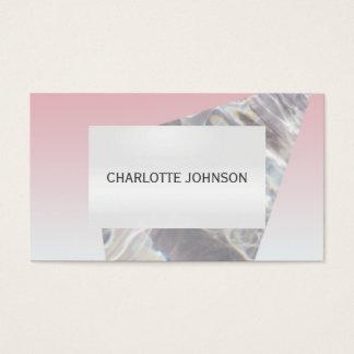 ミニマリズムのピンクの灰色のCristalの名刺 名刺