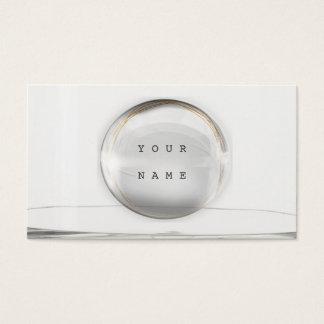 ミニマリズム灰色の金ホイルガラスVipの魅力 名刺