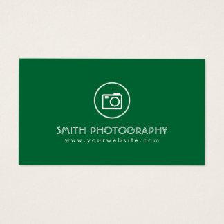 ミニマルでモダンな緑の写真撮影の名刺 名刺
