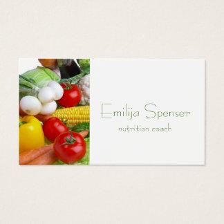 ミニマルで健康な生命または栄養士カード 名刺