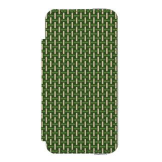 """ミニマルで幾何学的なパターン-日本""""タケ森林"""" INCIPIO WATSON™ iPhone 5 ウォレット ケース"""