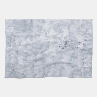 ミニマルで抽象的で白い絵筆の質パターン キッチンタオル